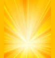 shiny sun rays radiator background vector image vector image