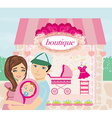 shopping for little girl vector image vector image