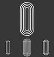 Silver letter i logo design set vector image vector image