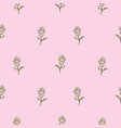 simple flowers on pink seamless pattern background vector image vector image
