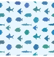 Simple plain style fish seamless pattern vector image