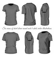 six views of black t-shirt vector image vector image