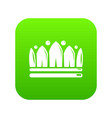 snow crown icon green vector image vector image