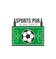 soccer sports pub football fan bar icon vector image
