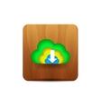 Virtual cloud icon vector image vector image