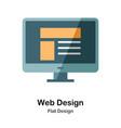 web design flat icon vector image vector image