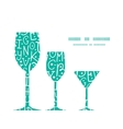 white on green alphabet letters three wine vector image