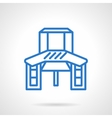 Work table blue line icon vector image