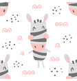 zebra heads pattern vector image