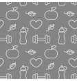 Seamless sport and health pattern Sport background vector image