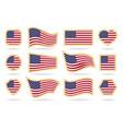 usa flag badges set vector image