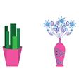Flower jar vector image