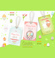 easter sale tags vector image