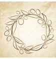 Olive label vector image