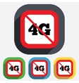 4g sign mobile telecommunications technology vector image vector image