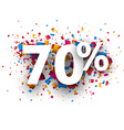 70 sale sign vector image vector image