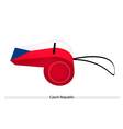 A Whistle of The Czech Republic Flag vector image