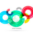 abstract bright colorful circles background vector image vector image