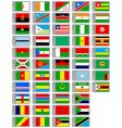 African flags collection vector image vector image