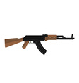 AK-47 kalashnikov assault rifle vector image vector image