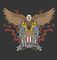 american eagle veteran vector image