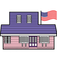 American home vector image vector image