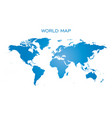 blank blue world map isolated on white background vector image vector image