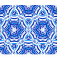 blue background kaleidoscope star pattern vector image vector image