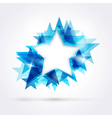 blue star frame vector image vector image