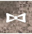 Bow tie iconTriangle background vector image vector image