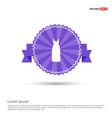 bride dress icon - purple ribbon banner vector image