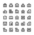 Building Icons 3 vector image vector image