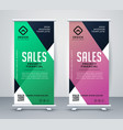 business roll up banner or standee design template vector image vector image