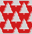 christmas tree seamless pattern in red and grey vector image vector image