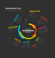 circular infographic report template vector image vector image