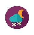 Cloud Snow Moon flat icon Meteorology Weather vector image