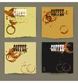 Coffee designs vector image vector image