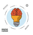 colorful poster creative process with light bulb vector image vector image