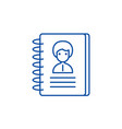 contacts line icon concept contacts flat vector image vector image