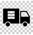 data transfer van icon vector image vector image