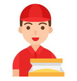 delivery man icon profession and job vector image vector image