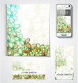 Design of branded products from the flowers Floral vector image vector image