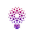 digital bulb icon with dots vector image vector image