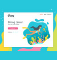 diver landing page template vector image vector image