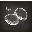 eggs sketch on chalkboard vector image