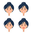 emotions on womans face isolated vector image vector image