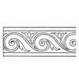 evolute spiral stove tile is a painting during vector image vector image