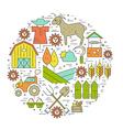 Farming Circle Concept vector image vector image