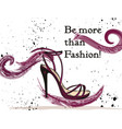 fashion with elegant female shoe with bow vector image vector image
