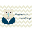 Fathers day dad hug designed card designed